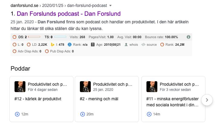Dan Forslund podcast